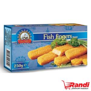Замразени рибни пръстчета Columbus 250гр.