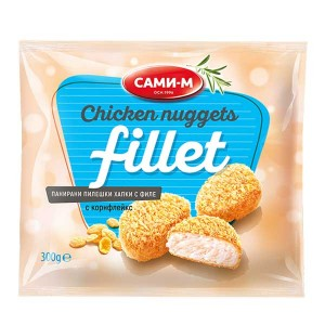 Панирани пилешки хапки филе с корнфлейкс замразени Сами-М 280гр.