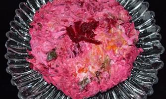 Зимна салата с цвекло