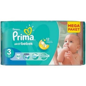 Prima Pampers размер 3 midi (4-9кг.) 54бр.