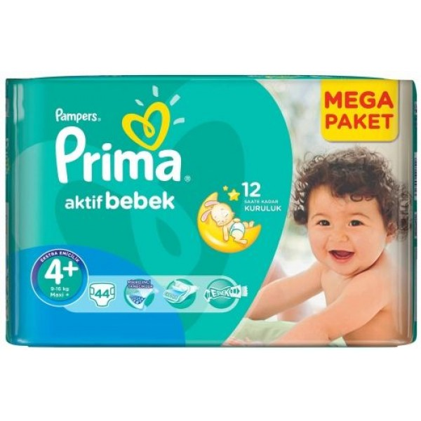 Prima Pampers 4 maxi + (9-16 кг.) 42бр.