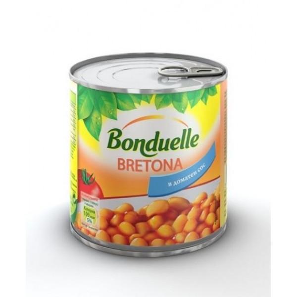 Зрял фасул с доматен сос Bonduelle 425 мл.