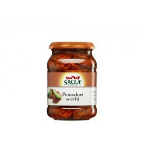"Сушени на слънце домати в слънчогледово олио ""Sacla"" 340гр."