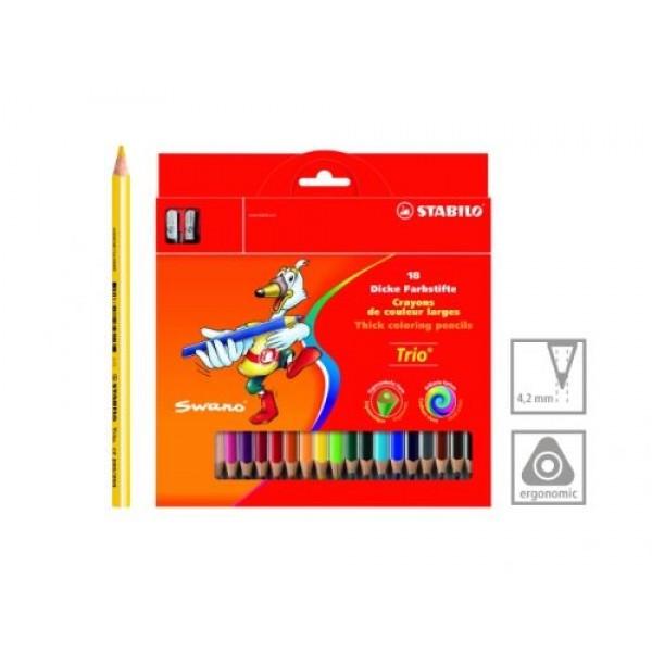 Цветни моливи ергономични 18 цвята Stabilo