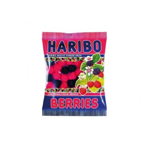 Желирани бонбони Haribo къпинки малинки 100гр.