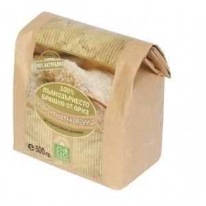 """Пълнозърнесто брашно от ориз 100% """"Екосем България"""" 500гр."""