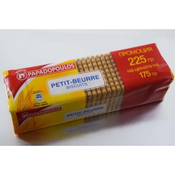 "Бисквити ""Papadopoulos"" petit-beurre 225гр."