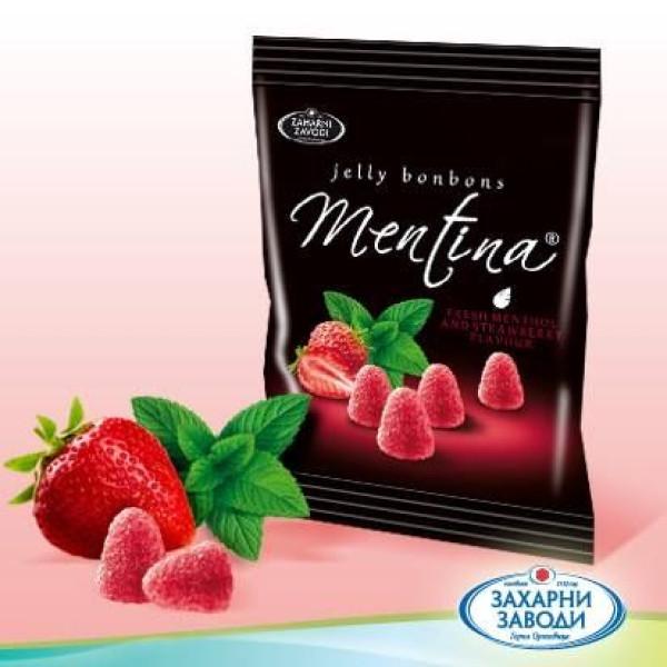 Бонбони Ментина желе ягода 100гр.