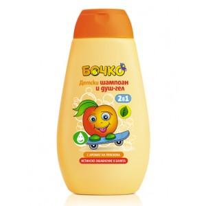 Детски шампоан и душ-гел 2в1 с аромат на праскова 250мл.