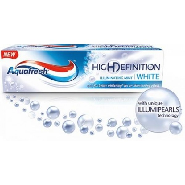 Паста за зъби Aquafesh HigHDefinition- illuminating mint- white 75мл.