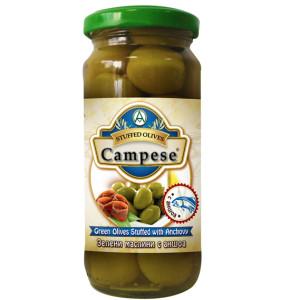 Зелени маслини с аншоа Campese 235гр.