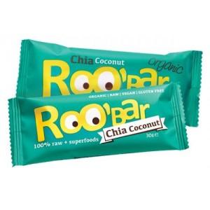 Био суров десерт Roo bar чиа и кокос 30гр.