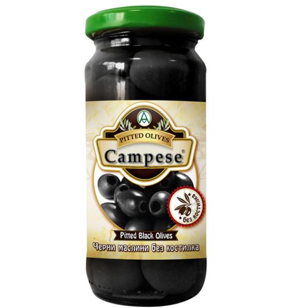 Черни маслини без костилка Campese 235гр.