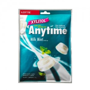 Бонбони Xylitol Anytime Milk Mint 74гр.