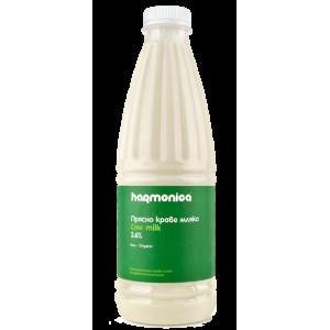 """Прясно мляко 3,6% """"Harmonica"""" БИО 1л."""