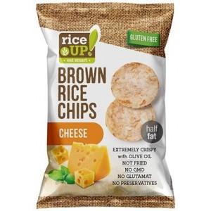 Чипс от кафяв пълнозърнест ориз със сирене Rice UP 60гр.
