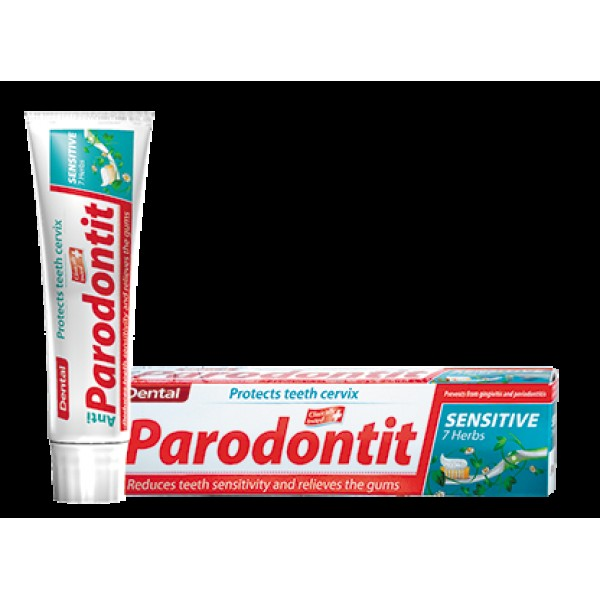 Паста за зъби  Dental Anti PARODONTIT sensitive 7 herbs 100мл.