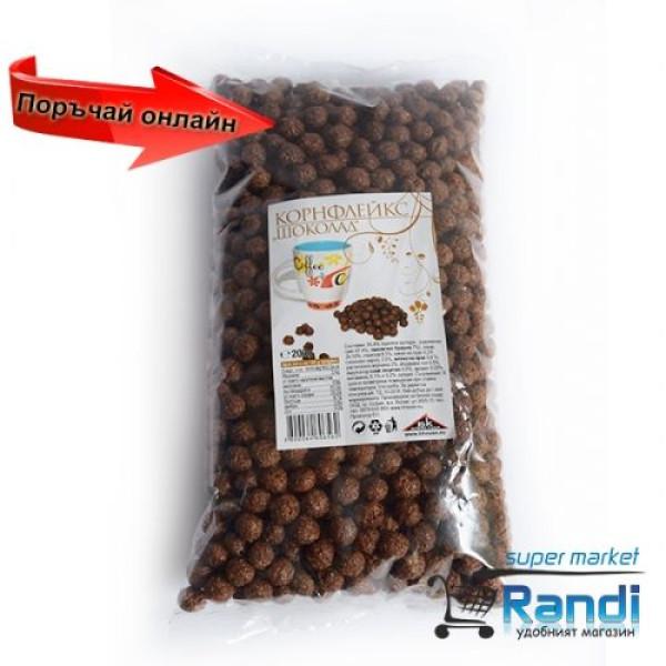 Корнфлейкс шоколадови топчета БК 200гр.
