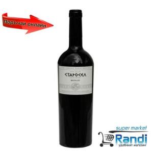 Вино Мерло Старосел 750мл.