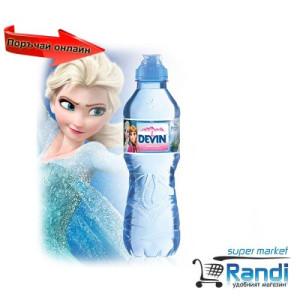 Изворна вода Девин Mini биберон за момиче 330мл.