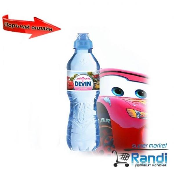 Изворна вода Девин Mini биберон за момче 330мл.