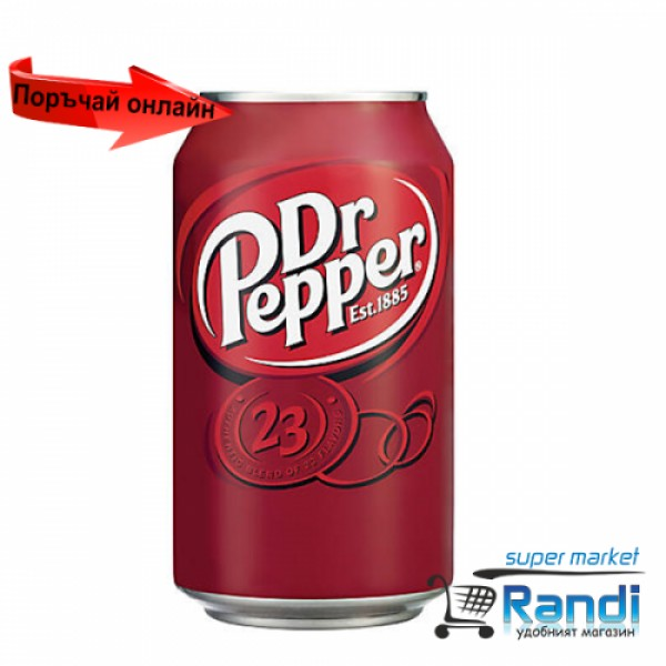 Газирана напитка Dr. Papper 330мл. кен