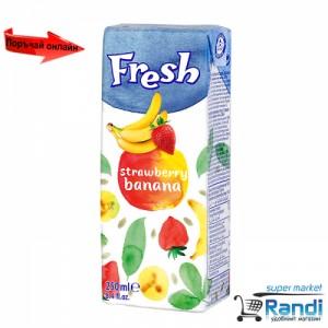 Плодова напитка ягода-банан Fresh 250мл.
