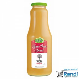 Сок ябълки, праскови и кайсии 100% Greno 1л.