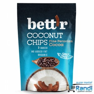 Био Кокосов чипс с какао Bett'r  70гр.
