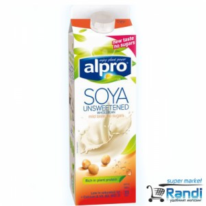 Соева напитка Alpro без захар и сол 1л.