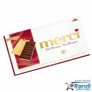 Шоколад Merci Fine Marzipan 112гр.