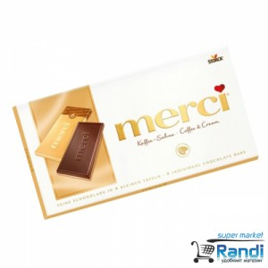 Шоколад Merci Coffe & Cream100гр.