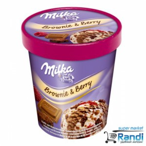 Сладолед Milka Brownie&Berry (бисквити и малини) 480мл.