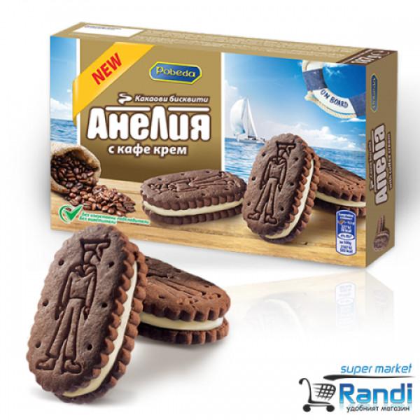 Бисквити Анелия с кафе крем 187гр.