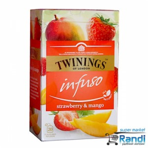Чай Twinings infuso Strawberry and Mango 20бр.*2гр.