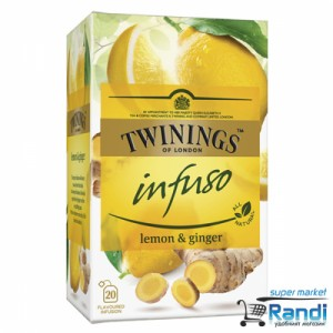 Чай Twinings infuso Lemon and Ginger 20бр.*1,5гр.
