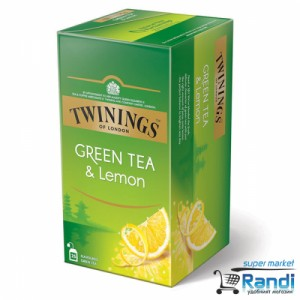 Чай Twinings Green Tea and Lemon 25бр.*1,6гр.