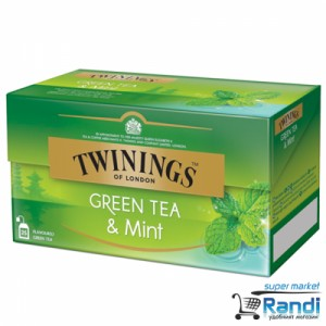 Чай Twinings Green Tea and Mint 25бр.*1,5гр.