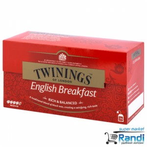 Чай Twinings English Breakfast tea 25бр.*2гр.