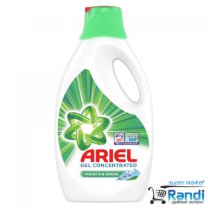 Течен перилен препарат Ariel mountain spring - за бяло 1,1л. 20 пранета
