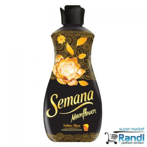 Омекотител Semana Moonflower Golden Shine 1л. - черен с жълти цветя