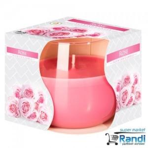 Свещ в чаша Bispol Rose