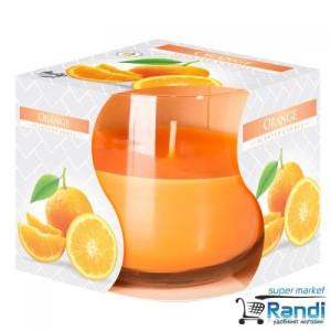 Свещ в чаша Bispol Orange