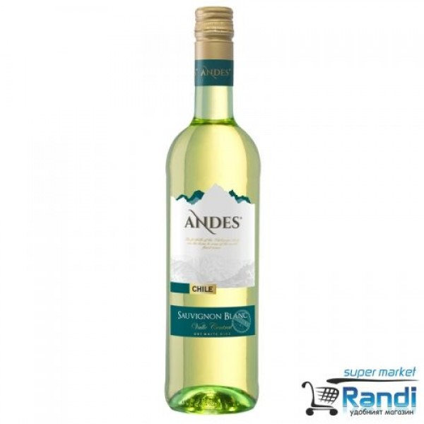 Бяло вино Andes Sauvignon Blanc Chile 750мл. 2018г.
