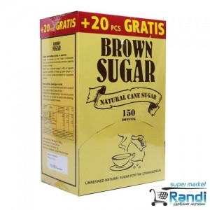 Кафява захар на пакетчета Brown Sugar 600гр./ 150 пакетчета