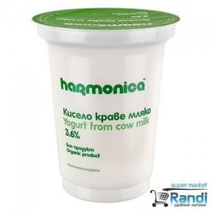 Био кисело мляко  3.6%  Harmonica 400гр.