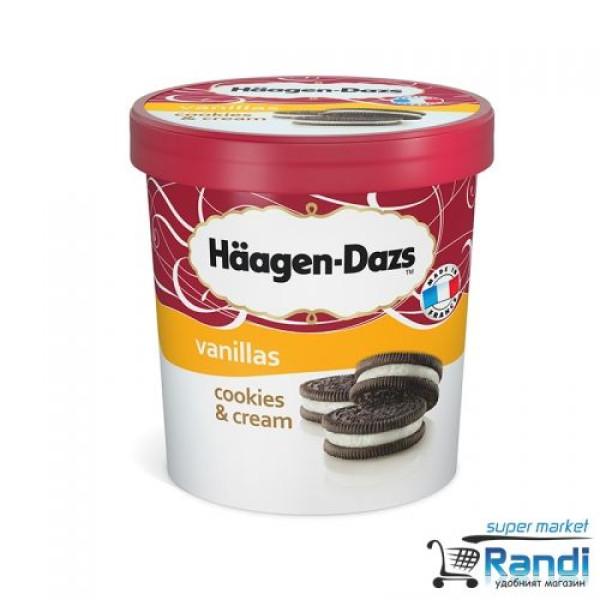 Сладолед Бисквити и сметана Haagen Dazs 460мл.