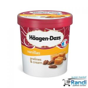 Сладолед Haagen-Dazs пралини и крем 500мл.