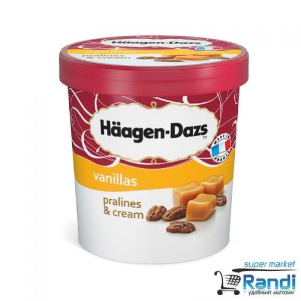 Сладолед Пралини и крем Haagen Dazs 460мл.