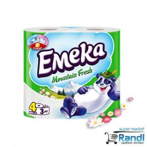 Тоалетна хартия Емека Mountain Fresh 4бр.